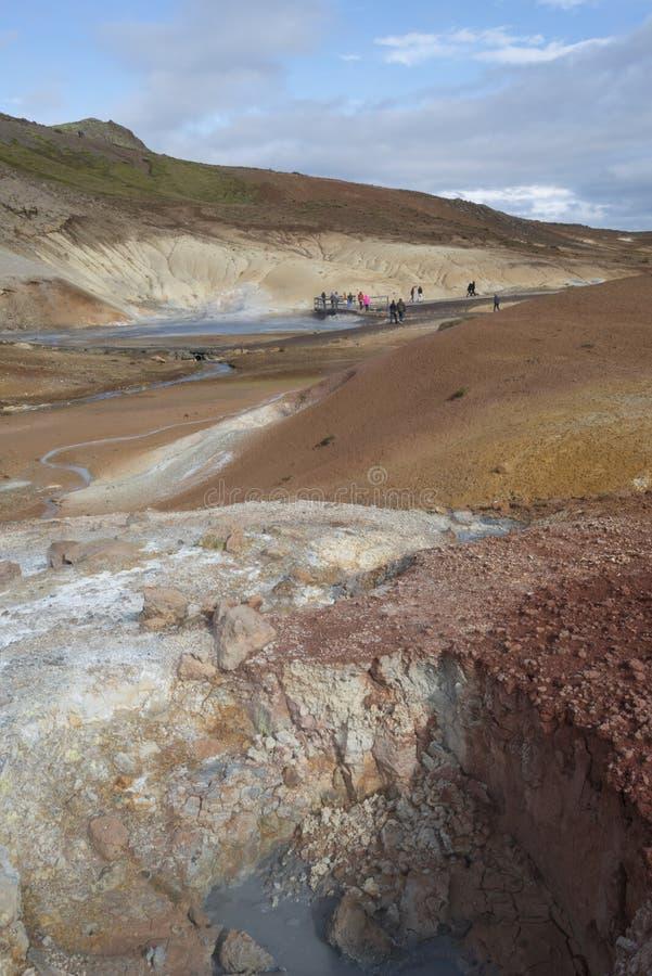 Área geotérmica - Islandia fotografía de archivo libre de regalías