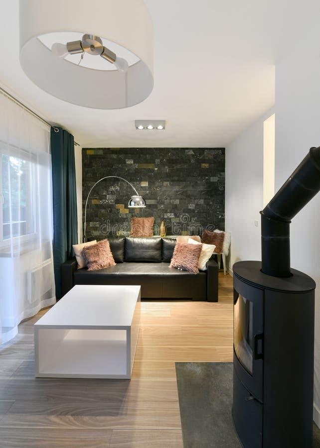 Área habitável do apartamento de estúdio fotos de stock royalty free