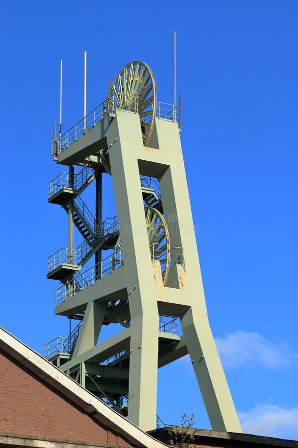 Área histórica do Ruhr, colliery, minha Ewald, Alemanha imagem de stock