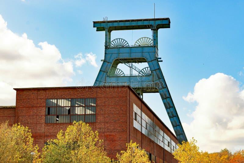Área histórica do Ruhr, colliery, minha Ewald, Alemanha fotografia de stock