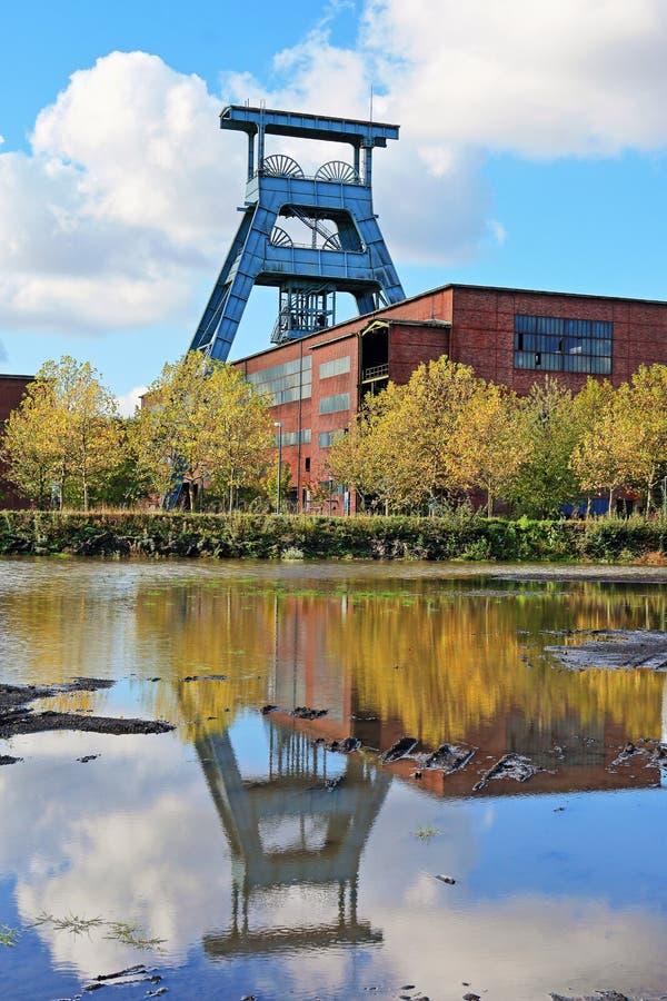 Área histórica do Ruhr, colliery, minha Ewald, Alemanha fotos de stock royalty free