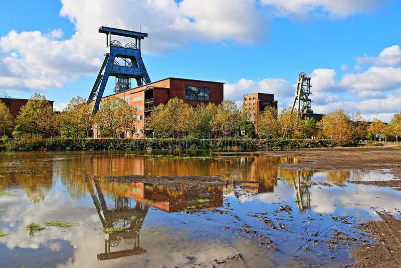 Área histórica do Ruhr, colliery, minha Ewald, Alemanha imagem de stock royalty free