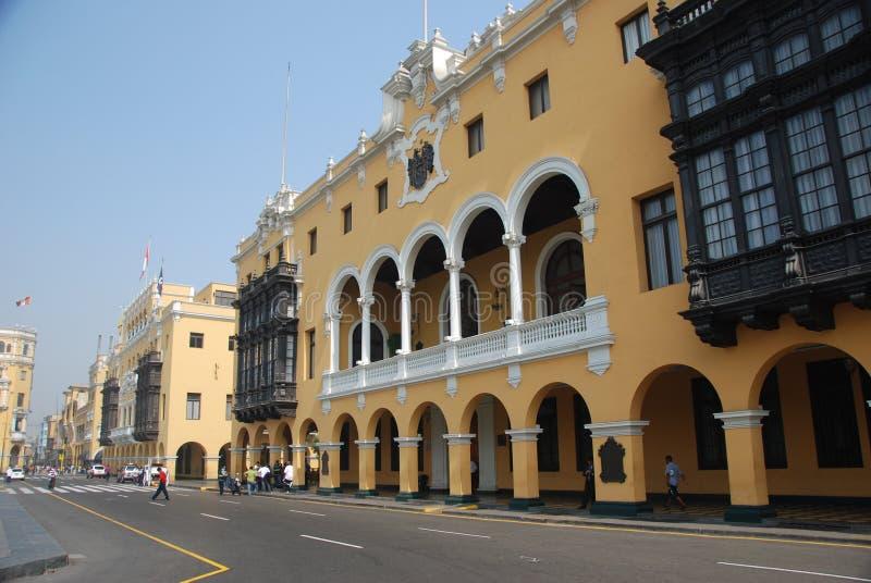 Área histórica em Lima, Peru fotografia de stock royalty free