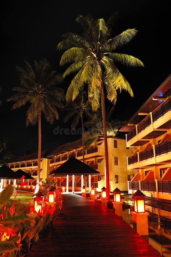 Área iluminada do abrandamento do hotel de luxo imagens de stock royalty free