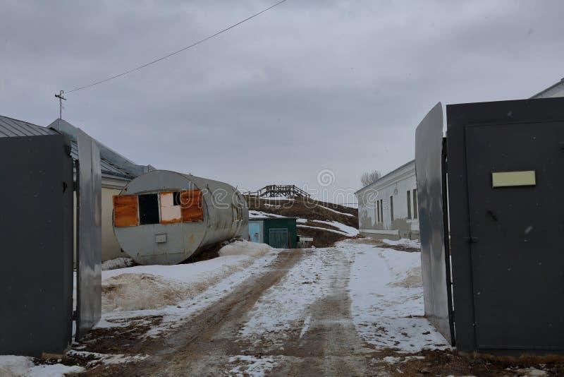 Área industrial abandonada imagens de stock royalty free