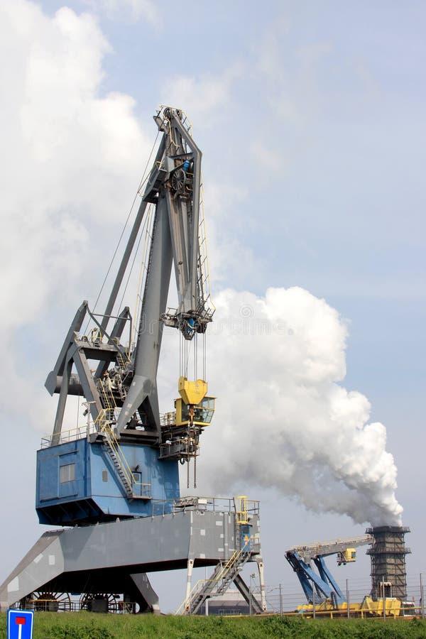 Área industrial holandesa (fábrica de acero) fotos de archivo
