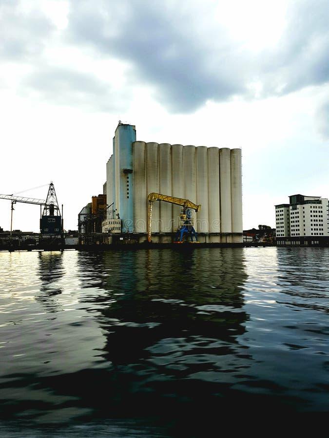 Área industrial triste foto de archivo libre de regalías