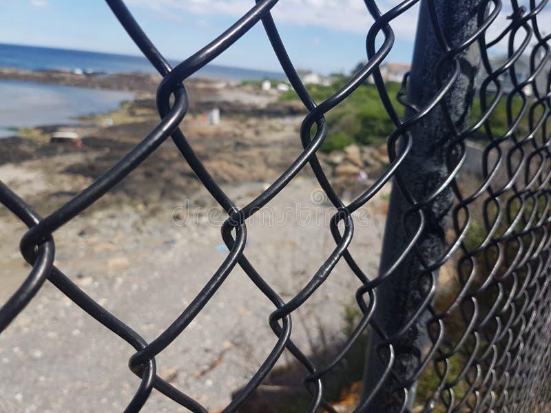 Área interditado fotografia de stock