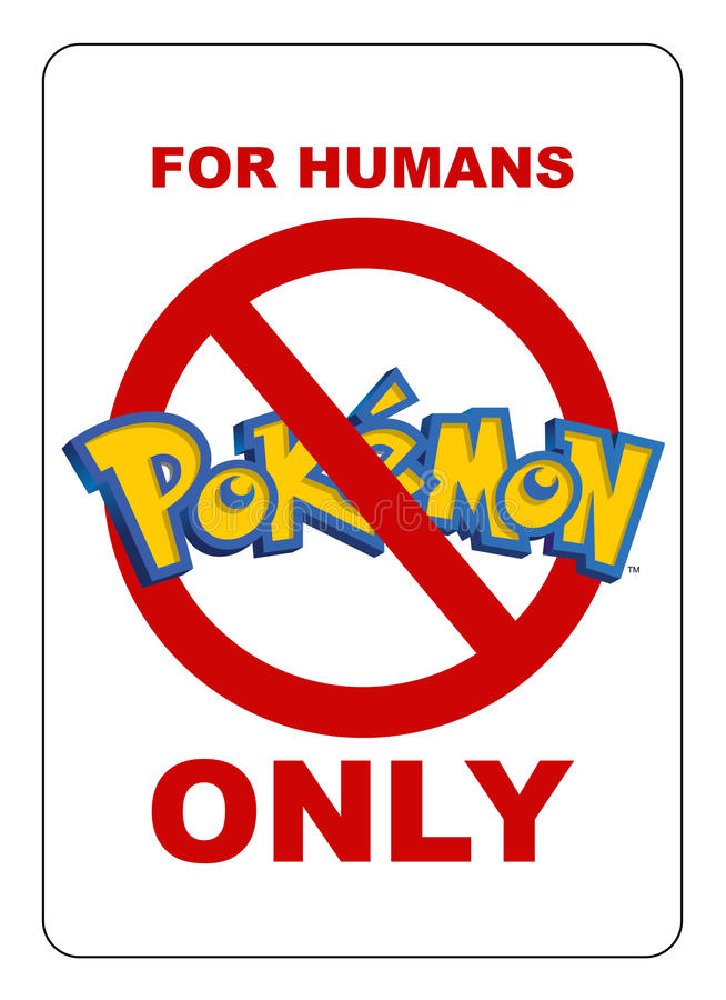 Área interditado para Pokemon ilustração do vetor