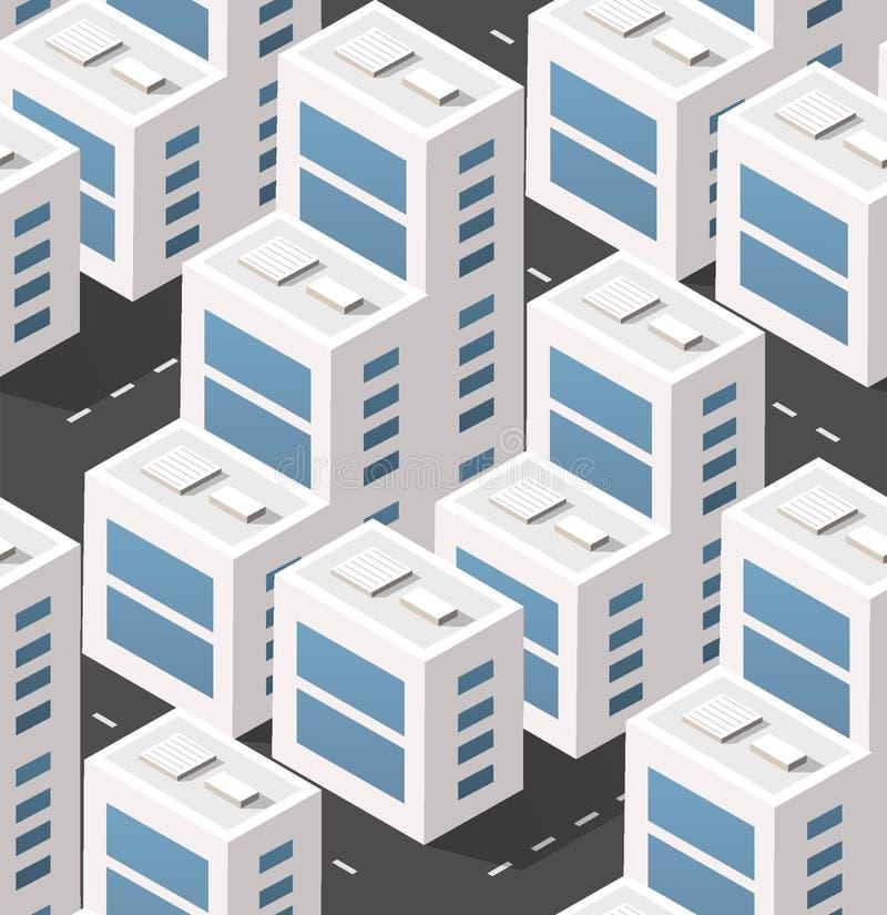 Área isométrica urbana ilustração royalty free
