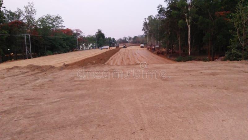 Área lateral de la carretera del camino en el hazaribagh imagen de archivo libre de regalías