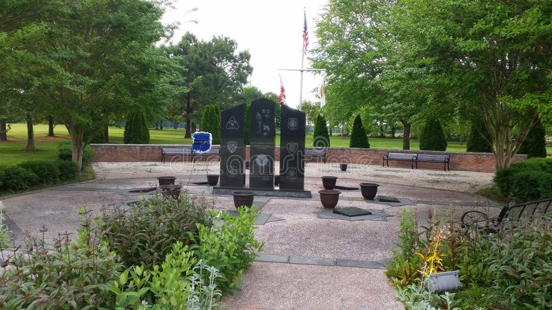 Área memorável do veterano no parque 4H fotos de stock
