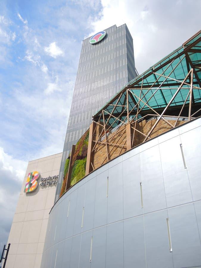 Área moderna e comercial em Bucaramanga, Colômbia. imagens de stock royalty free