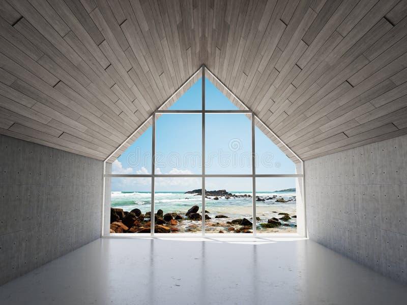 Área moderna vacía del salón imagen de archivo