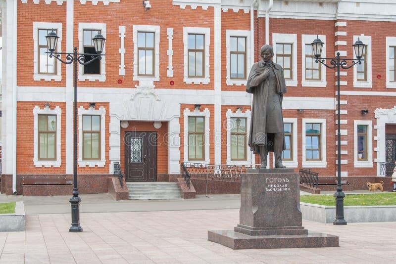 Área (monumento) Gogol A república de Mari El, Yoshkar-Ola, Rússia 05/21/2016 fotos de stock