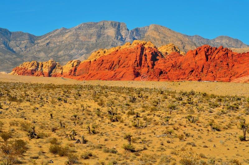 Área nacional da conservação da garganta vermelha da rocha, Nevada fotos de stock royalty free