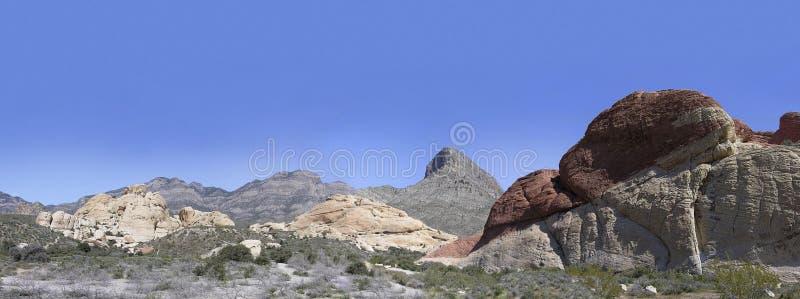 Área nacional de la conservación de la barranca roja de la roca imagen de archivo