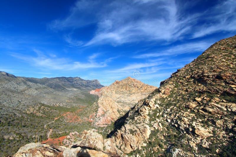 Área nacional de la protección del barranco rojo de la roca fotografía de archivo