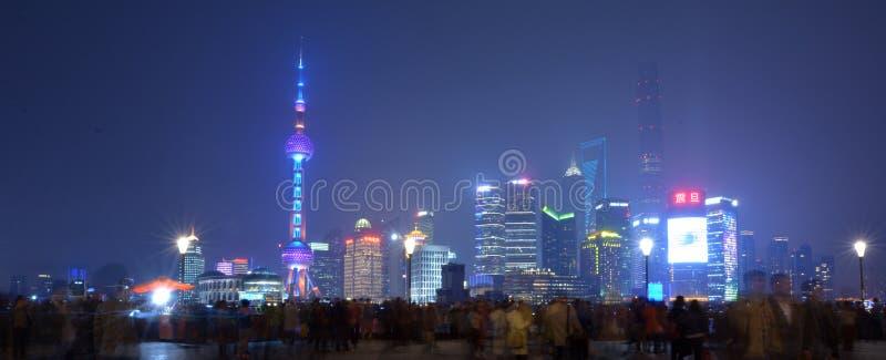 Área nova de Shanghai Pudong foto de stock royalty free