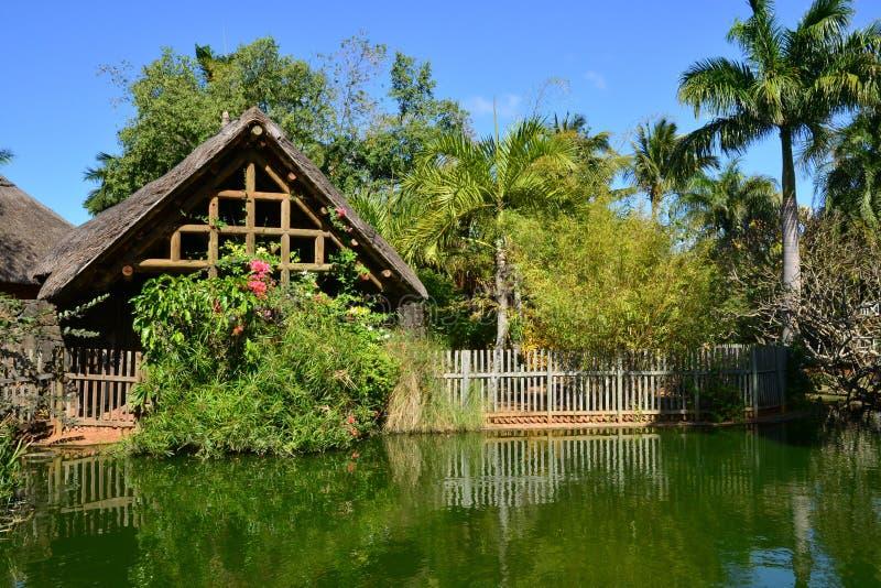 Área pintoresca del La Pointe Canonniers aux. en Mauritius Repu imagen de archivo