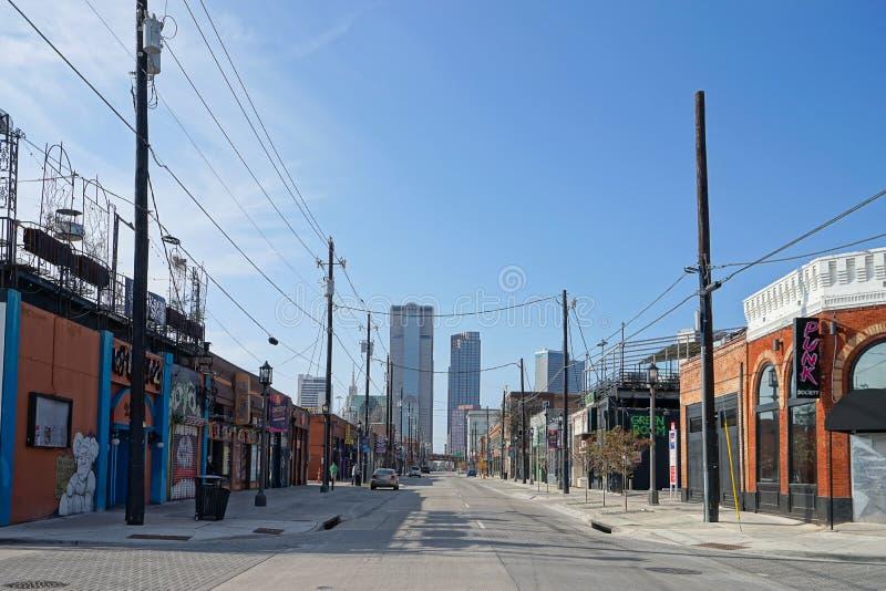 A área profunda de Ellum de Dallas Texas imagens de stock