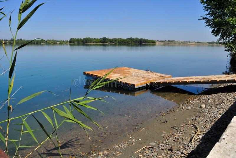 Área que nada en el lago imagen de archivo libre de regalías