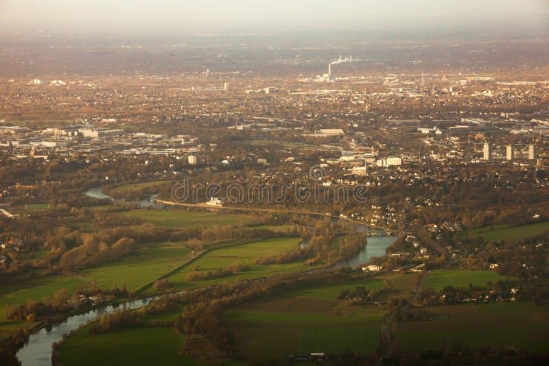 Área Reno-Westphalia norte Alemanha de Muehlheim Ruhr foto de stock royalty free