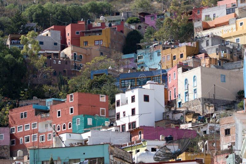 Área residencial de guanajuato México foto de stock royalty free