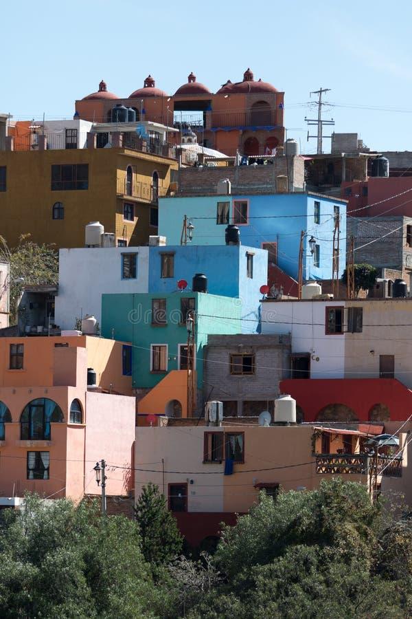 Área residencial de guanajuato México fotos de stock