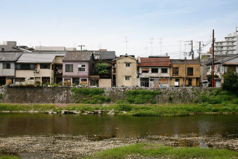 Área residencial de Kyoto foto de archivo