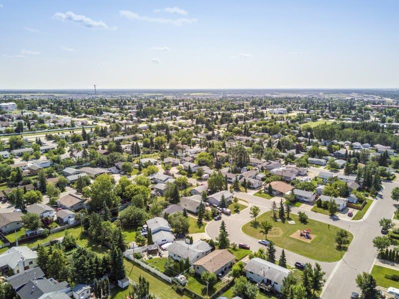 Área residencial de la grande pradera, Alberta, Canadá foto de archivo libre de regalías