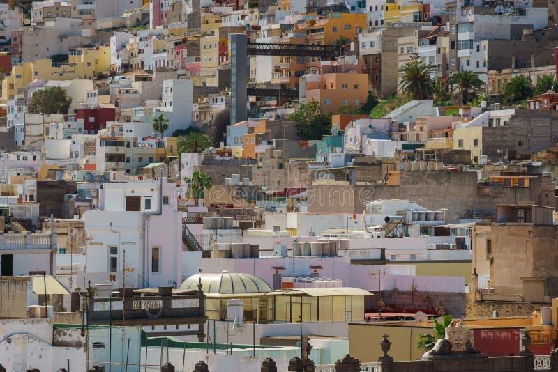 Área residencial del Las Palmas, Gran Canaria, España fotografía de archivo