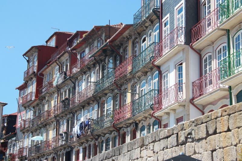 Área residencial em Porto foto de stock royalty free