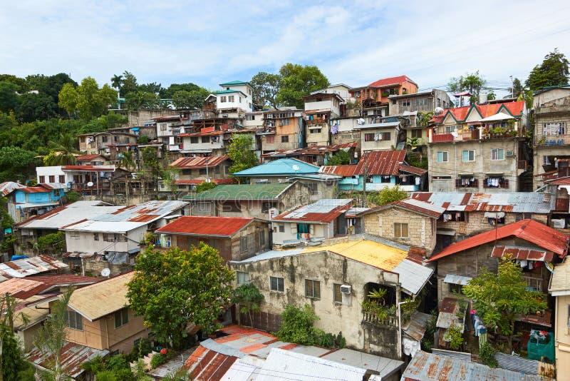 Área residencial na cidade de Cebu, Filipinas imagens de stock