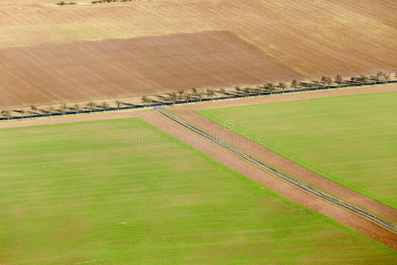 Área rural na região de Kyffhaeuser no Thuringia fotos de stock