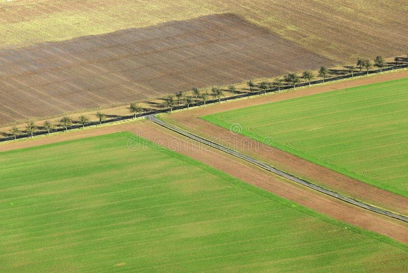 Área rural na região de Kyffhaeuser no Thuringia imagem de stock royalty free