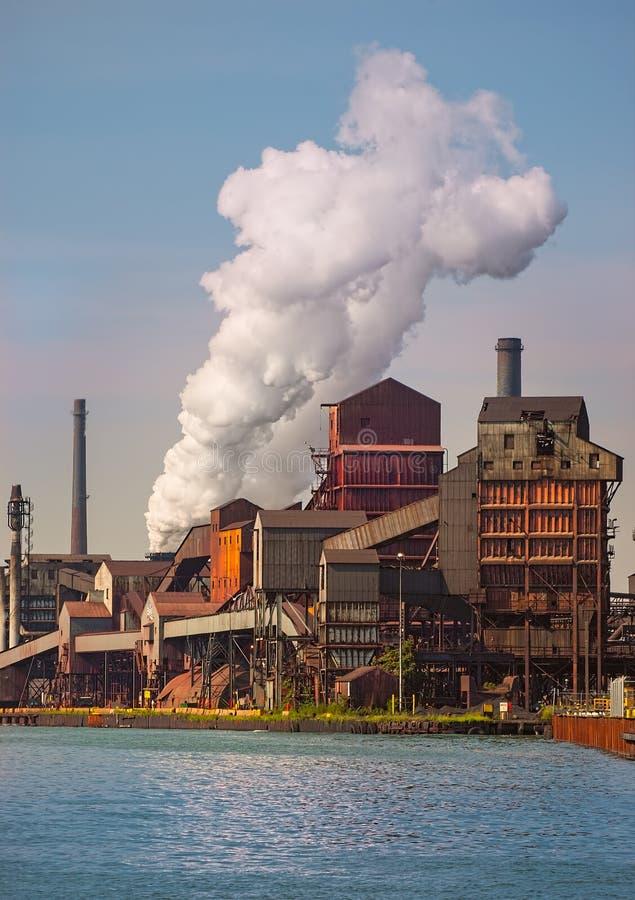 Área Steelmill de Detroit imagem de stock royalty free