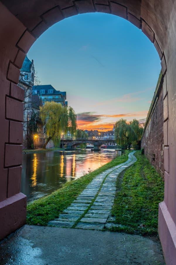 A área Strasbourg Alsácia de Galia fotografia de stock