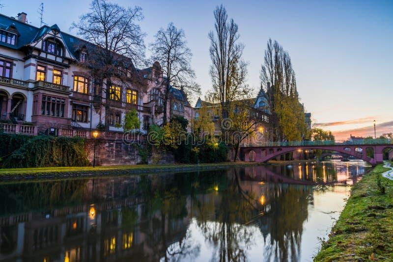 A área Strasbourg Alsácia de Galia fotografia de stock royalty free