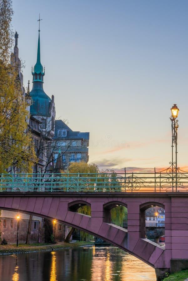 A área Strasbourg Alsácia de Galia fotos de stock royalty free