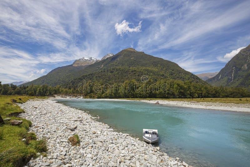 Área sul do patrimônio mundial de Westland, Haast, Nova Zelândia fotos de stock