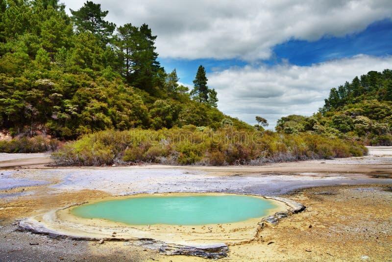 Área termal de Wai-O-Tapu, Nueva Zelandia imagen de archivo libre de regalías