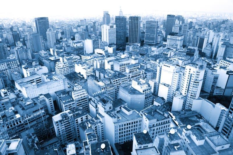 Área urbana de Sao Paulo imagem de stock