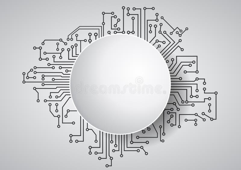 Área vazia eletrônica ilustração royalty free