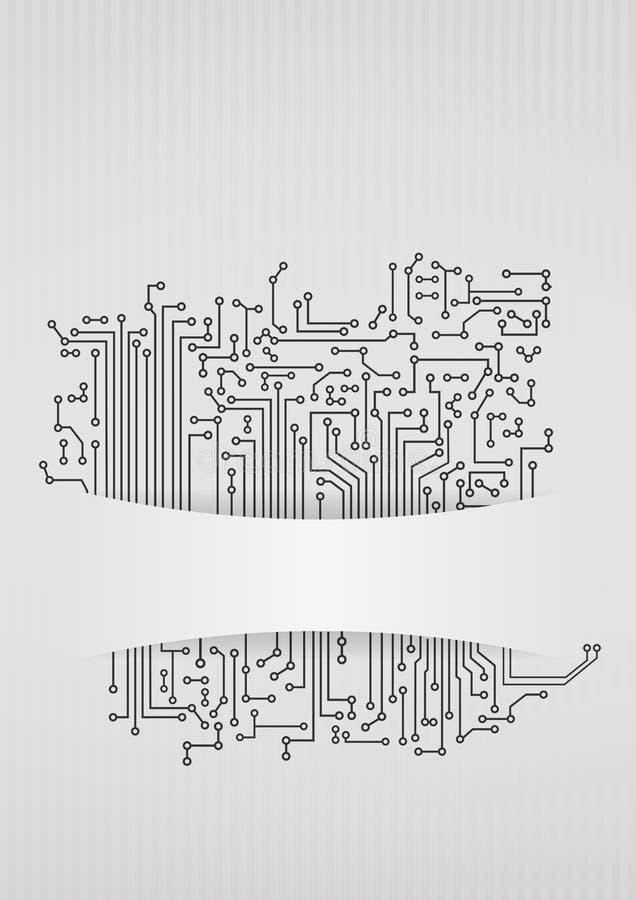 Área vazia eletrônica ilustração stock
