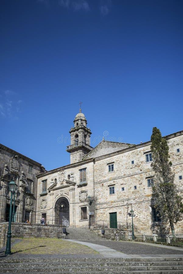 Área velha histórica da cidade de Santiago de Compostela spain fotos de stock royalty free