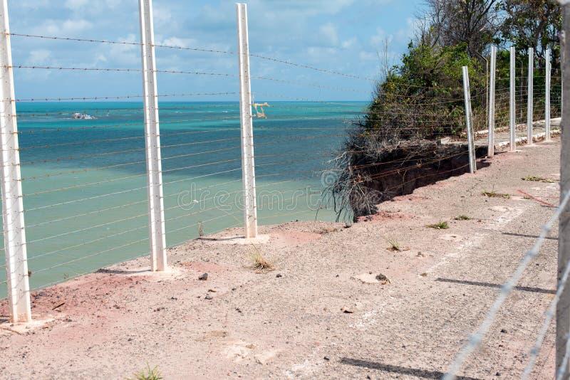 Áreas de la erosión de suelo imagenes de archivo