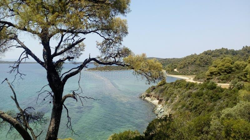Áreas na estrada à praia de Azapiko fotografia de stock royalty free