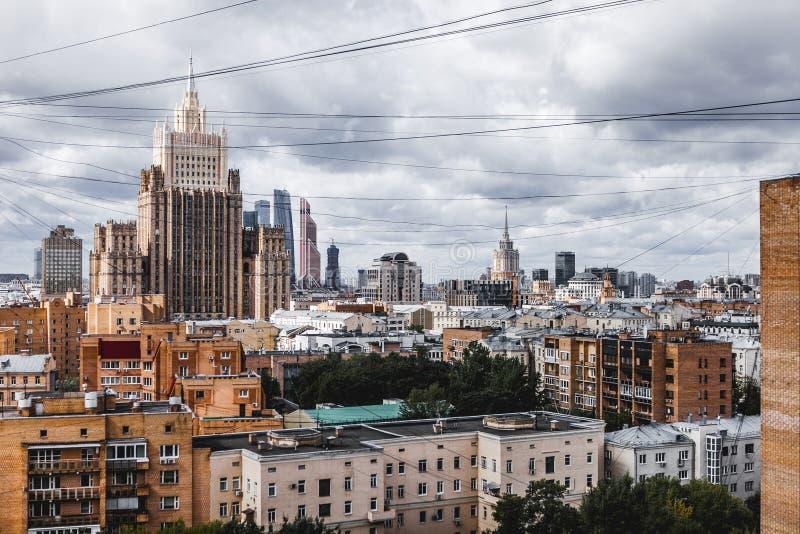 Áreas residenciales de Moscú del centro fotografía de archivo libre de regalías