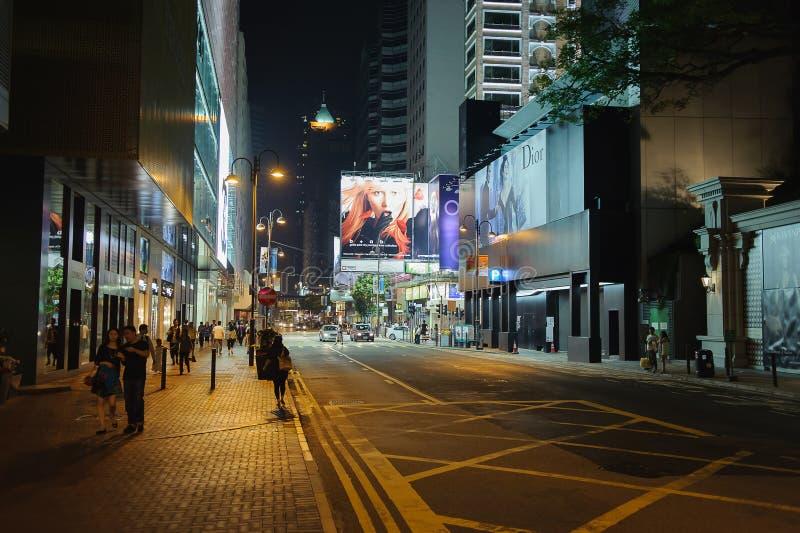 Ária de Tsim Sha Tsui perto de Nathan Road fotografia de stock
